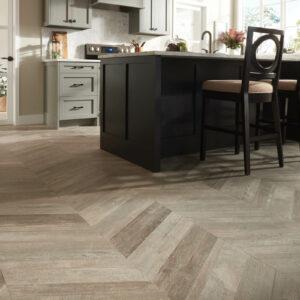 Glee chevron tile flooring   O'Krent Floors