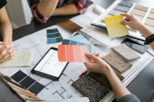 interior designer consults with clients | O'Krent Floors