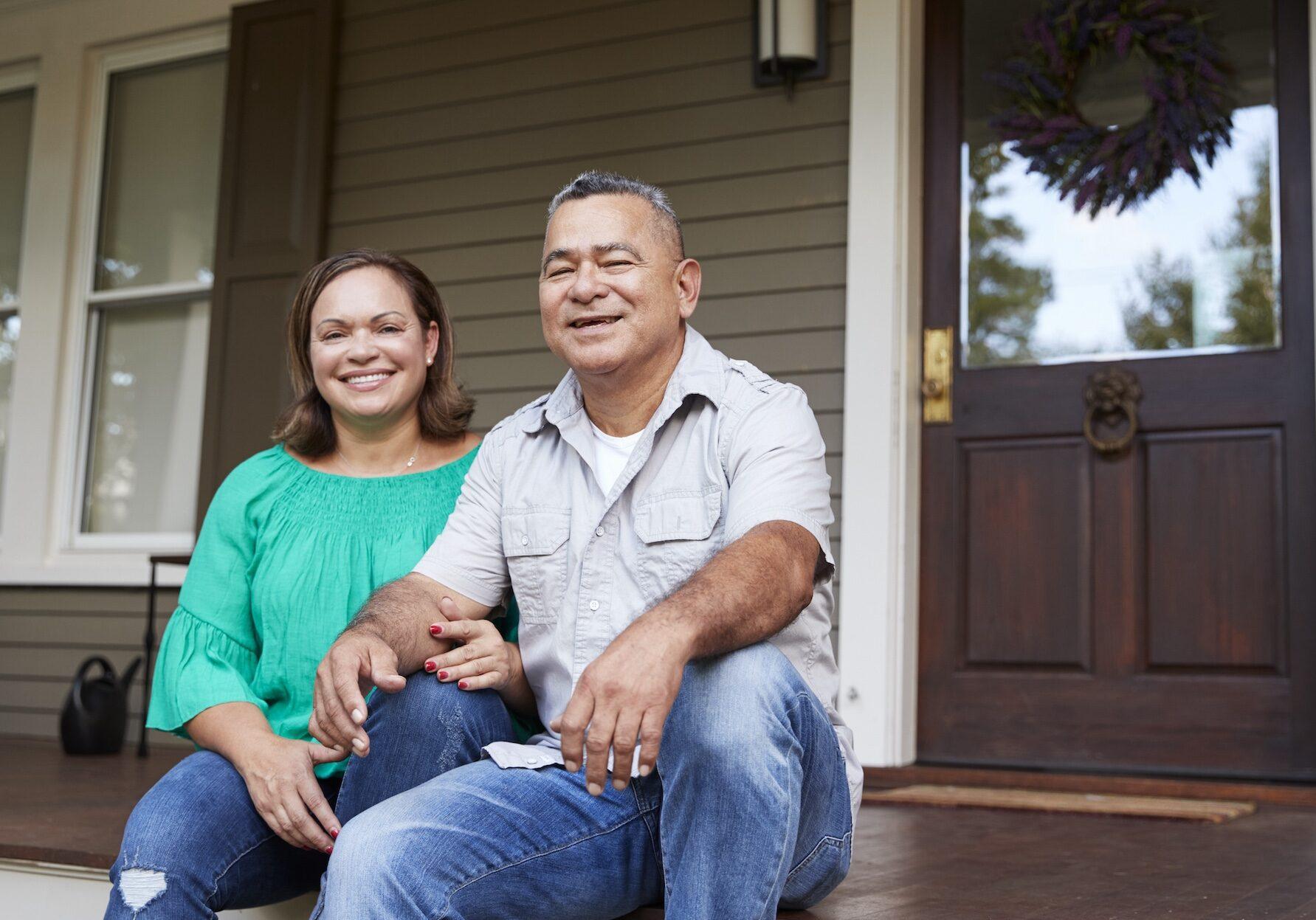 smiling older couple | O'Krent Floors