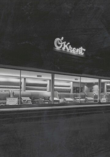 black and white showroom | O'Krent Floors