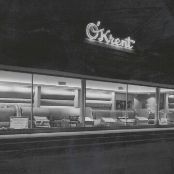 black and white showroom   O'Krent Floors